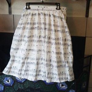 Dresses & Skirts - Music Notes Midi Circle Skirt